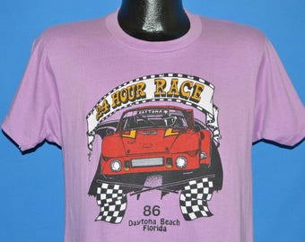 80s Daytona Beach 1986 Porsche t-shirt Medium