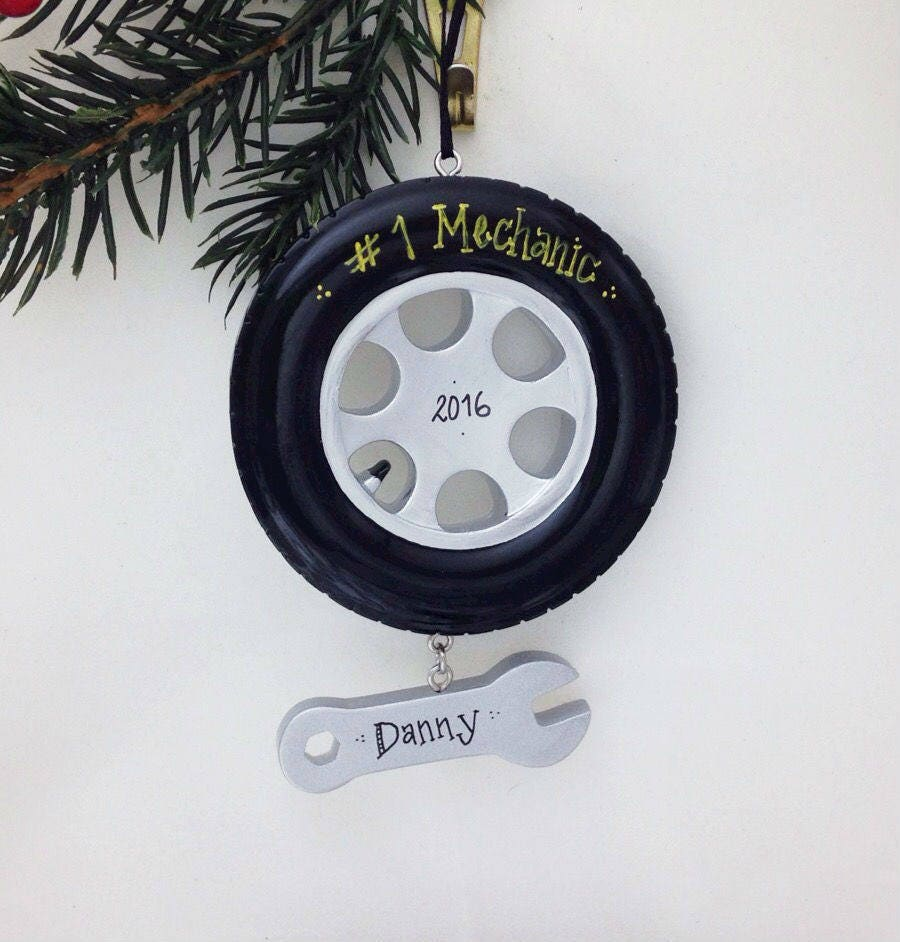 Dad christmas ornament - Free Shipping Tire Wrench Personalized Christmas Ornament Mechanic Ornament Personalized Ornament Dad Gift Dad Christmas Ornament