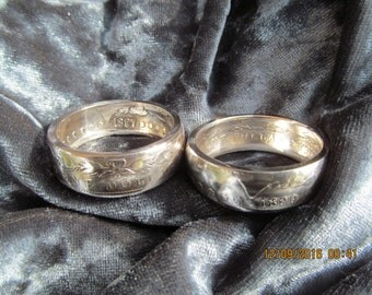 Older Morgan Silver Dollar Rings. From the turn of the Last Century, Minted between 1887 and 1904, Big & Bold. 113 to 130 year old coins