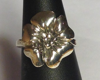 Sterling Silver Flower Ring