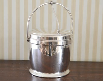 "Vintage Monogram ""K"" Silverplate Ice Bucket"