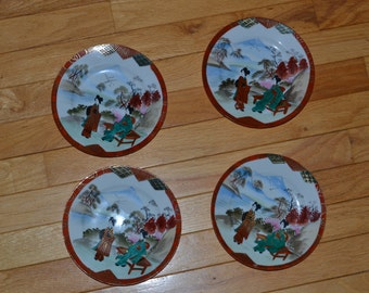 Hand Painted Nippon Plates