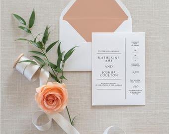 The Katherine Invitation Set | Simple wedding invitation set | Wedding Details, RSVP Card | Classic Wedding Invite