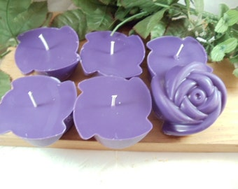 Flower Floating Candles - Choose from 200+ Scents -100% American Soy- Maximum Scented- Banquet and Meeting Centerpiece