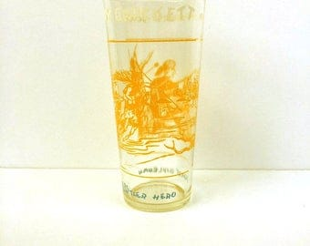 Davy Crockett 1786-1836 Wilderness Scout Glass Retro Vintage