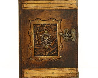 Guns 'N Roses Brown Large Leather Handmade Journal Diary Notebook Plain Paper Book