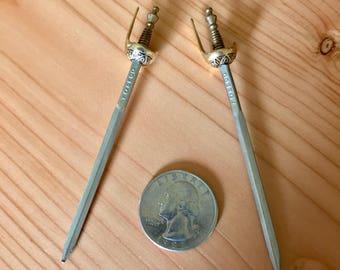 Pair of Miniature Toledo Swords FREE SHIPPING