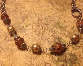 Silverworks: Sand Beaded Necklace