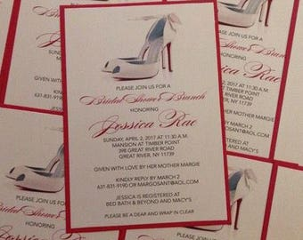 Shoe Invitation Louboutin Invitation Bridal Shower Invitation Birthday Invitation Sweet 16 Invitation Shoe Invitation