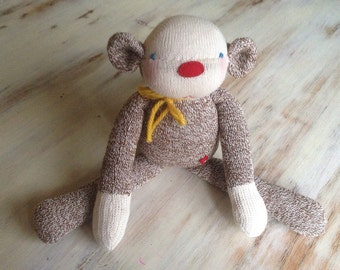 Cheeky Britches Sock Monkey Plush, monkey plush, stuffed animals, handmade toys, monkey toy, nursery decor, handmade doll,