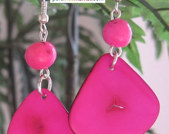 1 pair TAGUA ACAI EARRINGS eco jewelry from Peru