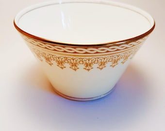 Aynsley 1930s sugar dish - Art deco sugar dish - cream and gold sugar dish