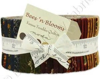 Bees and Blooms Moda Jelly Roll Kansas Troubles