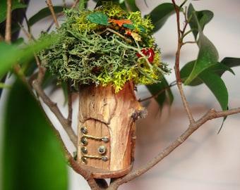 """Mini Fairy House: 1.5"""" d (#26).   indoor, outdoor"""