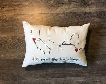 State to State outline pillow