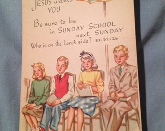 SUNDAY SCHOOL Postcard, Unposted and Unstamped