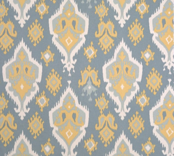 "Premier Prints Ikat Fabric 54"" By the Yard Macon Saffron"