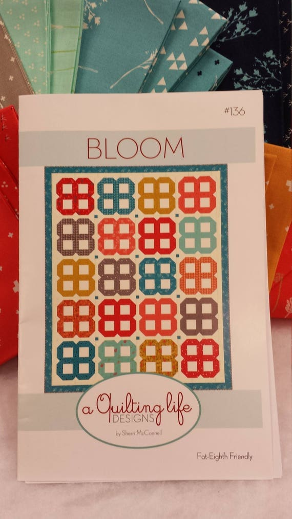 Desert Bloom Quilt Kit, Fabric For Top And Binding Along With The Pattern