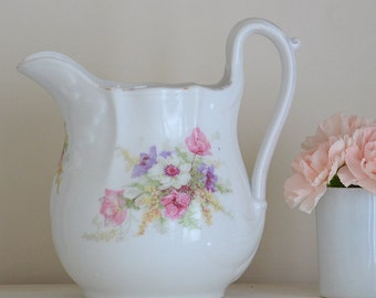 Vintage French Shabby Pitcher