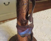 Antique Arts & Crafts Hammered Copper Budvase