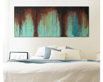 Landscape Abstract painting, Rusty Plate - i15, Acrylic Modern Art, Original Hand Made, Abstract Painting, Large painting