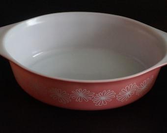 Vintage, Pink Daisy Pyrex Casserole Dish