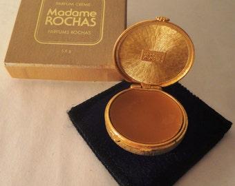 Vintage Madame Rochas Parfum Creme Compact with box, Collectors Item 5,6g