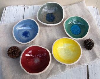 Posacenere colorato in ceramica / ceramic ashtray / regalo per colleghi / porta gioielli / riccio di mare / sea urchin art