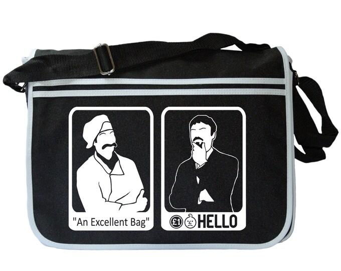 Ashens and Chef Excellence Black Messenger Shoulder Bag