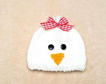Chicken Baby Hat • Chicken Newborn Hat • Chicken Baby Costume • Baby Shower Gift • Baby Chicken Hat • Farm Baby Hat
