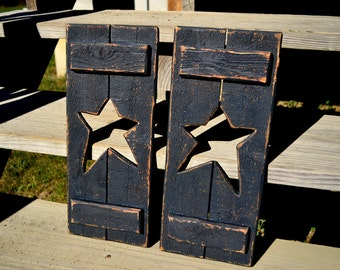 Pair of Country Star Shutters (Black)