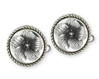 Winecup Cufflinks Jewelry Sterling Silver Handmade Flower Cufflinks PWC1-CL