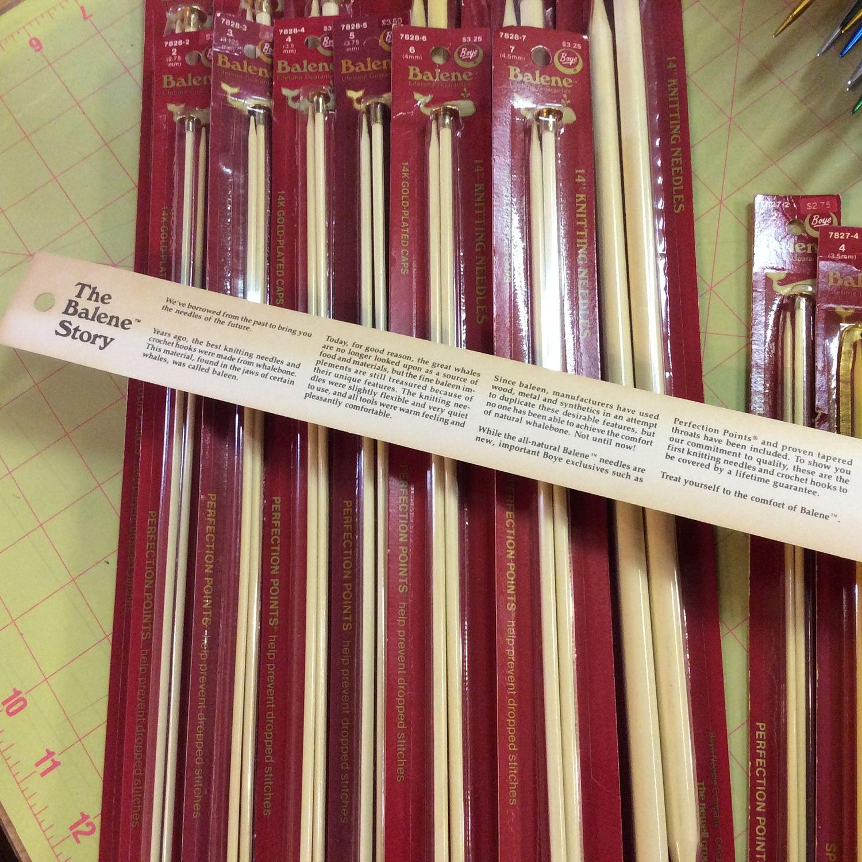 Knitting Needle Sizes Old And New : Boye balene inch single pointed knitting needles