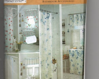 9153 Simplicity Sewing Pattern Bathroom Accessories Decor Home Shower  Curtain Sink Skirt Window Curtain UNCUT Factory