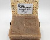 Goat Milk Soap, Oatmeal, Milk & Honey Goatmilk Soap, non-GMO soap, Cold Process Soap, All Natural Soap, Handmade Soap, artisan soap, Organic
