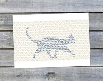 Postcard {Blue Cat}