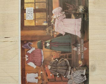 UNCUT Vogue patterns 8337 Vogue craft Early American doll clothes
