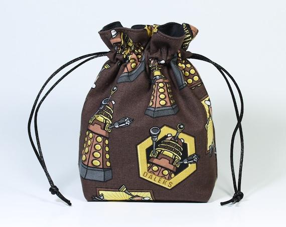 SALE Dr. Who Dalek Drawstring Bag, Dice Bag