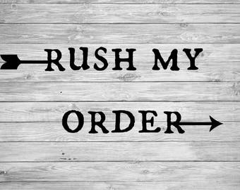 Rush My Decal Order