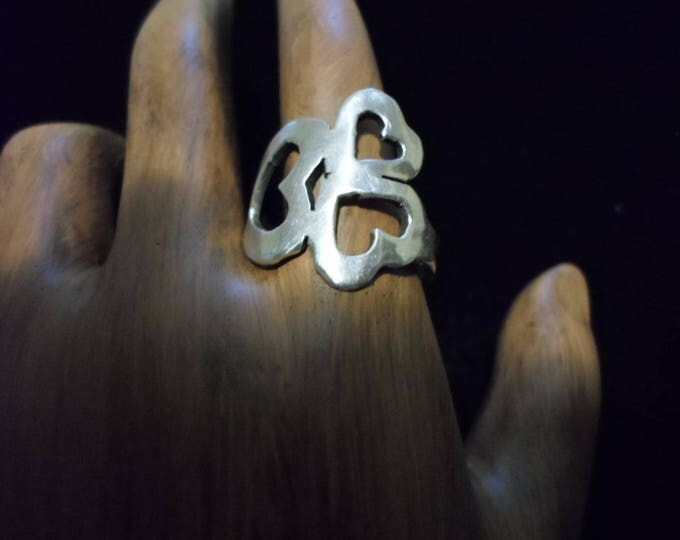 three heart ring quarter size