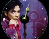 PRINCE Wall Clock - CD Size, 4.75 inch diameter. Roger Nelson. Singer Musician. Purple Rain. Revolution. Paisley Park. Makes a nice gift!