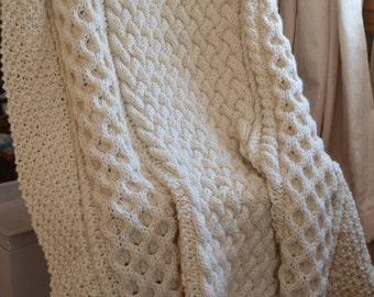 Riley Irish Throw Blanket - PATTERN ONLY