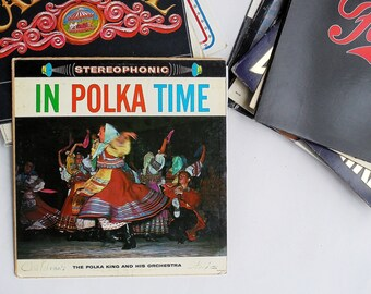 Vintage LP The Polka King and His Orchestra: In Polka Time Vinyl Record Album (Palace)