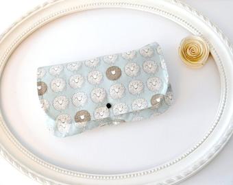 SHEEP - Diaper and Wipes case, diaper clutch, wipes case, make up bag, wet bag, envelope clutch