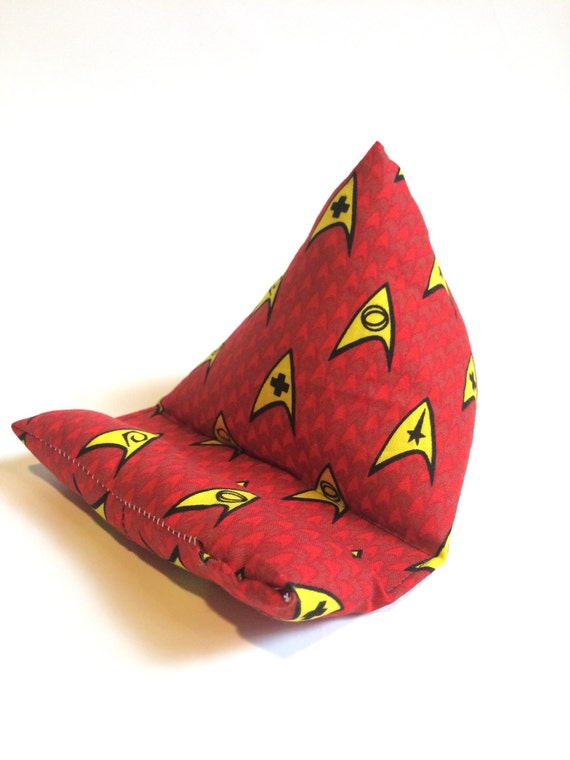 Cell Phone Stand, Star Trek fabric electronics stand, cell phone stand, tablet stand