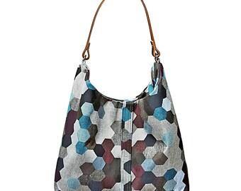 Grey Hobo Handbag sku#LA003HXBGHB