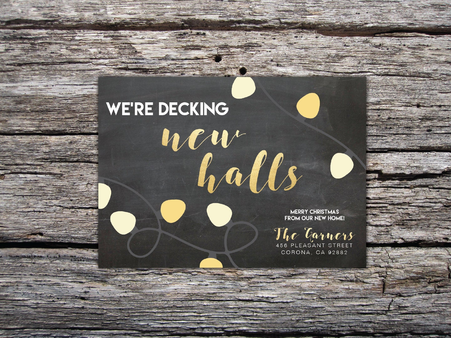 decking new halls christmas card christmas moving announcement we