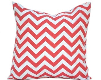 "One Coral pillow cover, Coral Zig Zag Pillow,  Home decor, decorative pillow, throw pillow, Orange Pillow, Coral Pillow, 14"", 16"", 18"", 20"""