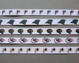 "NFL 3/8"" Team Ribbons"