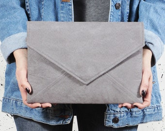 Grey clutch bag Vegan small bag Grey envelope clutch Small crossbody bag Wedding clutch Bridesmaid clutch Bridesmaid gifts Grey vegan bag
